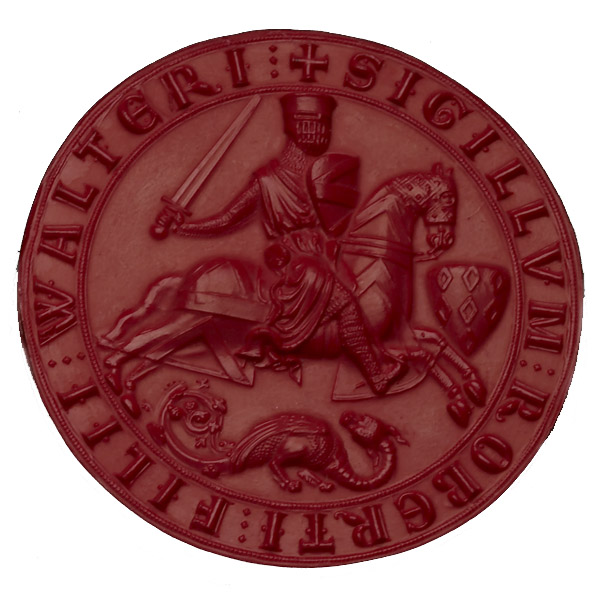 Seal-die of Robert Fitzwalte Medieval, about AD 1213-19 england The coat of arms of an English baron